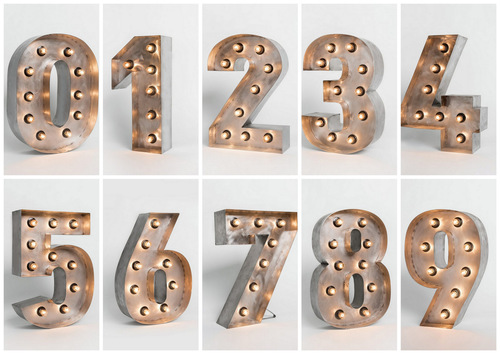 Буквы с лампочками RetroBlock